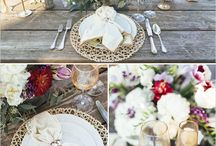 Wedding Decor- Table Settings