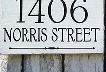 Mailbox name plates