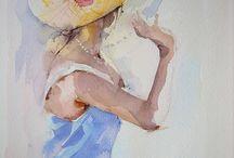 femme dans le flou