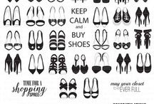 Shoe Wardrobe Stamp Sets / This board is filled with inspiration for our Shoe Wardrobe Collection (Solid, Outline, 2d. Edition Solid and 2d. Edition Outline).