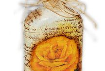 decorating bottles / by sue Bowen