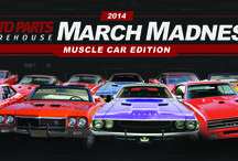 March Madness: Muscle Car Edition / Introducing...March Madness Muscle Car Edition! 16 of your favorite muscle cars fighting for that top spot! / by Auto Parts Warehouse