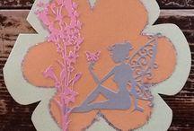 Mijn gemaakte kaarten / Embossing kaarten, snijmallen, dieren, elfje, baby, kerst, Lilly Luna 3D, box card