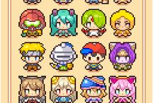 Pixel character design