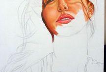 Ritratto di Belen Rodriguez / Fasi di realizzazione del mio ritratto di Belen Rodriguez. Olio su tela 40X80