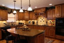 kitchen cabinets counters floors / by Theresa Marszal