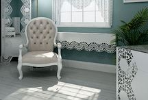 Lace Dining Tables / Dining tables from Lace Furniture in laser cut patterns based on vintage and classic lace designs