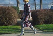 Streetstyle 2016 / Street style at Fashion week.  Anna Wintour, Susie Bubble, Miroslava Duma and others. Paris, New York, London, Milan, Russia