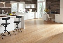 Universal Design Flooring / Universal design choices for flooring are hard surface materials (such as vinyl, hardwood, ceramic, engineered wood, laminate, slate, brick, marble, concrete, and terrazzo) because they wear well and provide good support for walking across or standing.