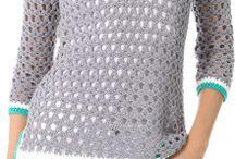 szydełkowe swetry