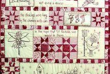 Quilts met stitchery