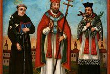Wszyscy święci / W naszych zbiorach znajdziecie wielu świętych. Artyści ludowi przedstawiają ich na obrazach, w rzeźbach i freskach. Na tej tablicy pokazujemy także świętych z innych zbiorów.
