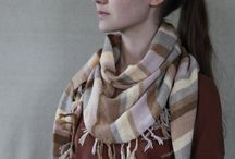 Striped scarf / Knitted scarves