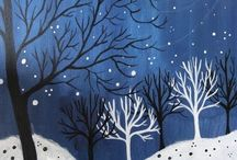 Winter art and crafts