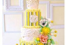 Yellow / Orange Colour Cakes