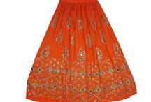 Fashionable Beaded Long Skirt