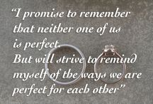 Wedding Quotes and Vows / Quotes, vows, inspirational and emotional messages about love, loving and being loved. Congratulations to all the happy couples, we wish you a lifetime of happiness, health and of course, love.