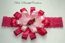 NicoleBeautifulCreations / Beautiful Handmade  accessories, such as headbands, hairclips, wedding, maternity sashes, bun holders, lapel pins for men, baby headbands and much more.