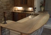 Stone In Your Home / Great examples of fireplaces, counter tops, floors,  etc. using stone in a unique and beautiful way!