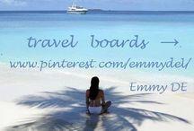 ~ му тяανєℓ вσαя∂ѕ → / Emmy DE * travel boards → / by Emmy DE
