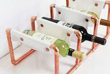 Porta vinho DIY