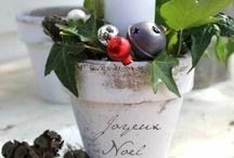 idées créas florales noël