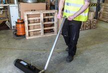 Magnetic Sweepers / A simple way to prevent punctures and remove ferrous metals from car parks and walk ways. http://www.magneticseparation.co/company/news/no_more_punctures_with_a_bunting_magnetic_sweeper.aspx