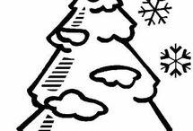 Новогодние Ёлочки - Раскраски