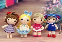 Amigurumi small dolls