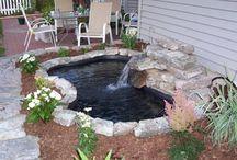 Outdoor flowerbeds and ponds