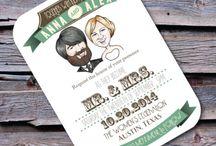Caricature Wedding Invites