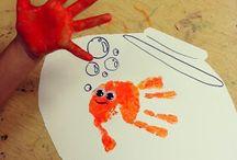 peinture empreintes main
