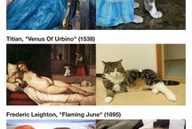 famous paintings  cat like
