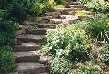 ступени и дорожки в саду