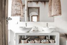 Salle de bain beton tadelack