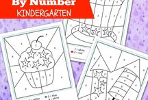 Colour by Number worksheets