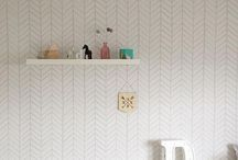 Light Grey Herringbone Wallpaper