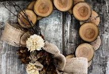 Wood wreath / Cut ends of tree