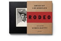 """Bruce of Los Angeles Rodeo / Acne Studios proudly presents """"Bruce of Los Angeles Rodeo"""", a book curated by renowned American photography writer and critic Vince Aletti. Bruce Bellas, better known as Bruce of Los Angeles, was one of America's most prolific photographers of the male nude. The 190-page volume presents a counterpart to Bellas' stylised nudes, wherein real cowboys are depicted casually dressed and relaxing between bronco busting or bull riding performances at Western rodeos in the 1950s, '60s, and '70s."""