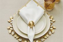 Chic Table Settings / Designer Lifestyle Table Accessories