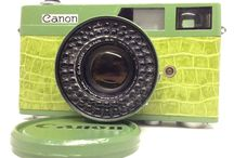 Canon Canonet 35mm Rangefinder Film Camera green leather