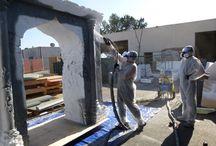 Polyurea Coating / Foam projects coated with hard coat shell polyurea coating