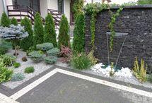 ściana w ogrodzie