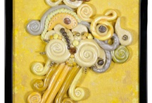 Sculpted Art by WhiteRose's Art / Artwork made with Polymer Clay, Paper Clay, Air-Dry Clay, &/or Painter's Caulk are featured here
