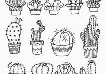 rośliny rysunki