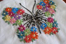 Puntadas de bordados mariposa