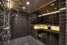 Kylpyhuoneideat / Tumma kylpyhuone