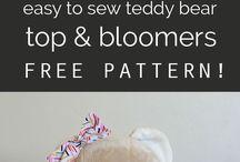 Bear clothes patterns