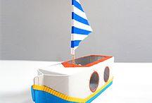 bateau avec bouteille de lait
