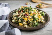 Salade de couscous israélien boccocini et mangues